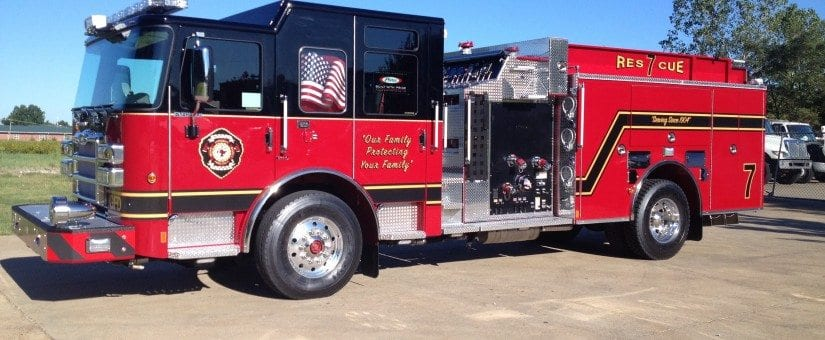 Pierce Enforcer Pumper to Greenville Fire Department