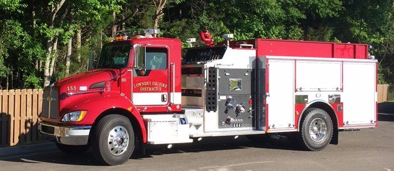 Pierce Commercial Pumper to Lowndes County Fire Department