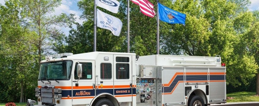 Pierce Enforcer Custom Pumper to Auburn Fire Department