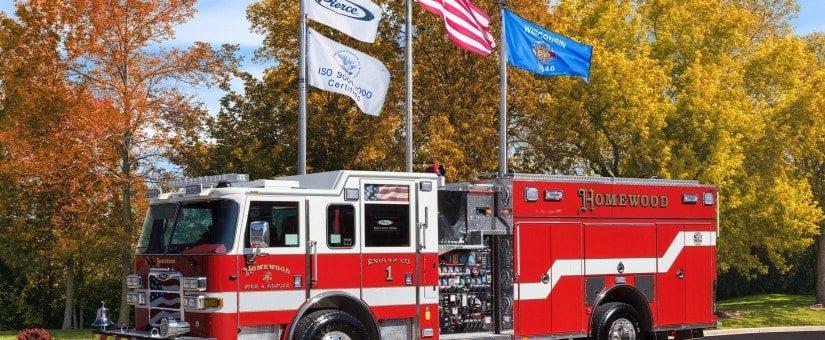 Pierce Arrow XT Custom Pumper to Homewood Fire & Rescue