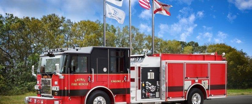 Pierce Saber Custom Pumper to Laurel Fire Department