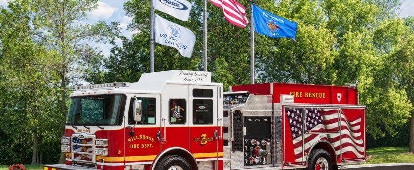 Pierce Enforcer Custom Pumper to Millbrook Fire Department