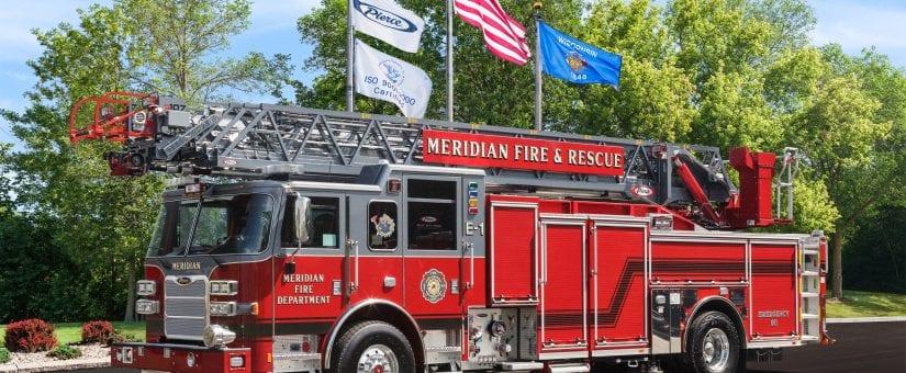 Pierce Arrow XT PUC Ascendant 107′ Aerial to Meridian Fire Department