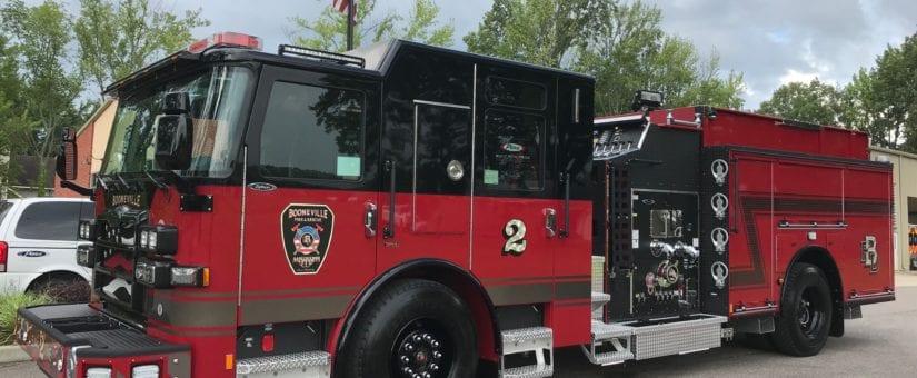 Pierce Enforcer Custom Pumper to Booneville Fire Department