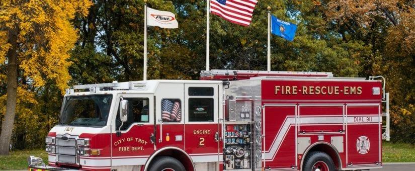 Pierce Velocity SLT Pumper to Troy Fire Department