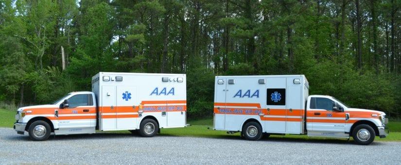 2 Demers F-350 MXP150 Type I Ambulances to AAA Ambulance Service