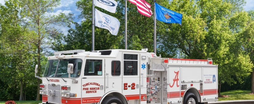 2 Pierce Arrow XT Pumpers to Tuscaloosa Fire & Rescue Service