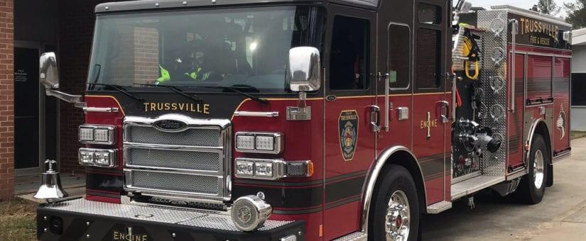 Pierce Enforcer Pumper to Trussville Fire & Rescue